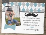 Bow Tie Birthday Invitations Items Similar to Little Man Mustache Party Birthday