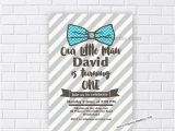 Bow Tie Birthday Invitations Little Man Birthday Invitation Bow Tie Invitation Design Boy