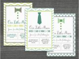 Bow Tie Birthday Invitations Little Man Bow Tie Birthday Invitation by Diconsha Designs
