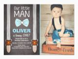 Bow Tie Birthday Invitations Our Little Man Birthday Invitation Boy Bow Tie Zazzle Com