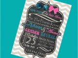 Bow Tie Birthday Invitations Personalized Bow Ties or Hair Bows Gender Reveal Printable