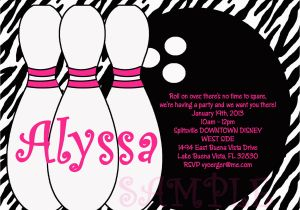 Bowling Alley Birthday Party Invitations Templates