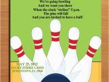 Bowling Alley Birthday Party Invitations Bowling Alley Customized Printable Birthday Party Invitation