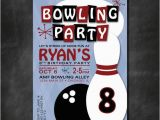 Bowling Alley Birthday Party Invitations Bowling Birthday Party Invitation Birthday Party