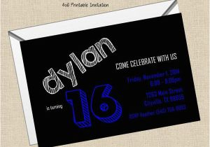 14 Photos Of The Boy 16th Birthday Invitation Ideas