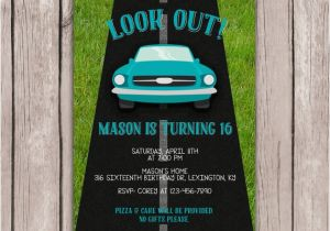 Boy 16th Birthday Invitations Printable Sixteenth Party Invitation 39 S