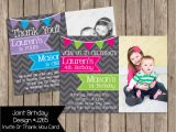 Boy and Girl Joint Birthday Invitations Joint Birthday Party Invitation Boy Girl by Periwinklepapery