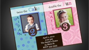 Boy and Girl Joint Birthday Invitations Joint Party Girl Boy Birthday Invitation