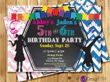 Boy and Girl Joint Birthday Invitations Kids Joint Birthday Party Invitations Boy Girl Joint Party