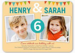 Boy Girl Twin Birthday Invitations 18 Birthday Invitations for Kids Free Sample Templates