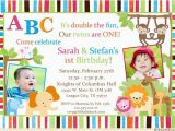 Boy Girl Twin Birthday Invitations 48 Best Cute Twin Birthday Invitations Images On Pinterest
