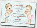 Boy Girl Twin Birthday Invitations Boy Girl Twins First Birthday Invitation for Twins Boy and