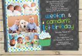 Boy Girl Twin Birthday Invitations Twin First Birthday Invitation Boy Twin 1st Birthday Invite
