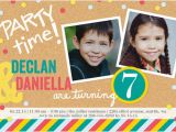 Boy Girl Twin Birthday Invitations Twins Boy or Girl Photo Birthday Invite Shutterfly