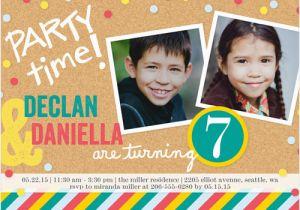 Boy Girl Twin Birthday Invitations Twins Boy or Girl Photo Birthday Invite Shutterfly