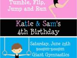 Boy Gymnastics Birthday Party Invitations 1000 Images About Boy Girl Twin Party Ideas On Pinterest