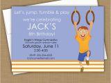 Boy Gymnastics Birthday Party Invitations 1000 Images About Gymnastics themed Birthday Party On