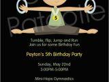Boy Gymnastics Birthday Party Invitations Boy Gymnastics Birthday Invitation Printable Party Invite