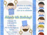 Boy Gymnastics Birthday Party Invitations Gymnastic Birthday Party Invitations