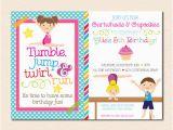 Boy Gymnastics Birthday Party Invitations Gymnastics Birthday Party Invitation Boy Girl Version