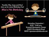 Boy Gymnastics Birthday Party Invitations Gymnastics Birthday Party Invitations for Boys and Girls