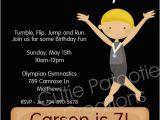 Boy Gymnastics Birthday Party Invitations Party Invitations for A Boys Birthday Party Featuring A