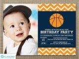 Boy Sports Birthday Invitations Basketball Invitation First Birthday Invitation Sports