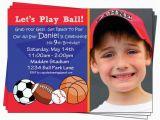 Boy Sports Birthday Invitations Boy Birthday Invitation Sports Football Baseball by