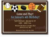 Boy Sports Birthday Invitations Etsy Your Place to Buy and Sell All Things Handmade