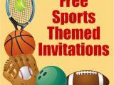 Boy Sports Birthday Invitations Free Printable Sports Birthday Party Invitations Templates