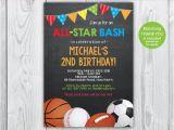 Boy Sports Birthday Invitations Sports Invitation Sports Birthday Invitation Boys Sports