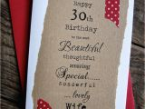 Boyfriend 30th Birthday Card 30th 40th 50th Birthday Card for Husband Boyfriend Wife