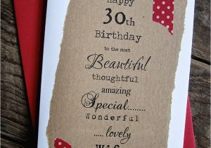 Boyfriend 30th Birthday Card 30th 40th 50th Birthday Card for Husband Boyfriend Wife