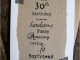 Boyfriend 30th Birthday Card 30th Birthday Card for Boyfriend Handsome Funny Amazing