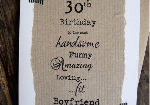 Boyfriend 30th Birthday Card 30th Birthday Card for Boyfriend Handsome Funny Amazing