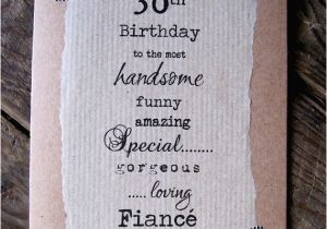 Boyfriend 30th Birthday Card 30th Birthday Card for Fiance Boyfriend Handsome Funny