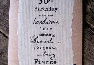 Boyfriend 30th Birthday Card 30th Birthday Card for Fiance Boyfriend Handsome Funny