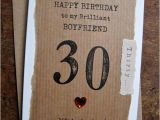 Boyfriend 30th Birthday Card Boyfriend 30th 40th 50th 60th Birthday Card Hand Stamped