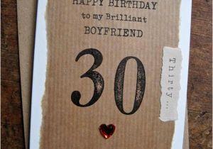 Boyfriend 30th Birthday Card Boyfriend 30th 40th 50th 60th Birthday Card Hand Stamped