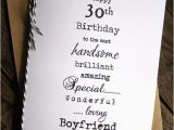 Boyfriend 30th Birthday Card Larger 30th 40th 50th Birthday Christmas Card Husband
