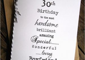 Boyfriend 30th Birthday Card Larger 30th 40th 50th Birthday Christmas Card Husband