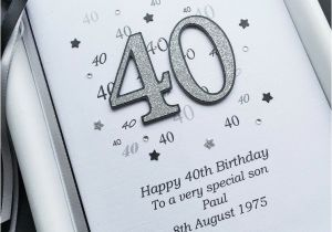 Boyfriend 40th Birthday Card 40th Birthday Card for son Husband Dad Brother
