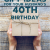 Boyfriend 40th Birthday Ideas 20 Gift Ideas for Your Husband 39 S 40th Birthday Unique Gifter