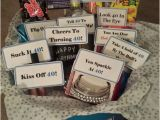 Boyfriend 40th Birthday Ideas Inside the Turning 40th Birthday Gift Basket My Friend