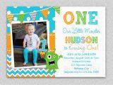 Boys 1st Birthday Invites Boys 1st Birthday Invitation Monster 1st Birthday Invitation