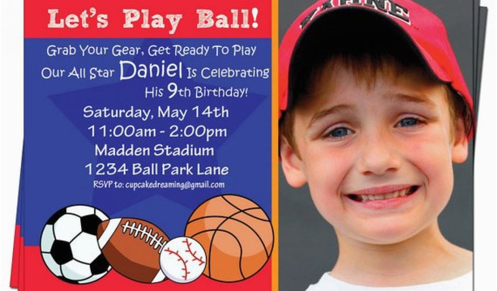 Download By SizeHandphone Tablet Desktop Original Size Back To Boys Sports Birthday Invitations