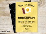 Breakfast Birthday Party Invitations Bacon and Egg Breakfast Invitation the Homespun Hostess