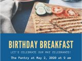 Breakfast Birthday Party Invitations Birthday Invitation Templates Canva