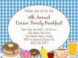 Breakfast Birthday Party Invitations Breakfast or Brunch Invitation Diy Printable