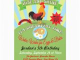 Breakfast Birthday Party Invitations Rise and Shine Breakfast Birthday Party Invitation Zazzle